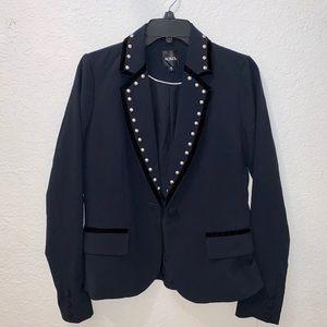 Black blazer | Velvet blazer